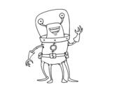 Disegno di Alien quattro gambe da colorare