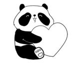Disegno di Amore Panda da colorare