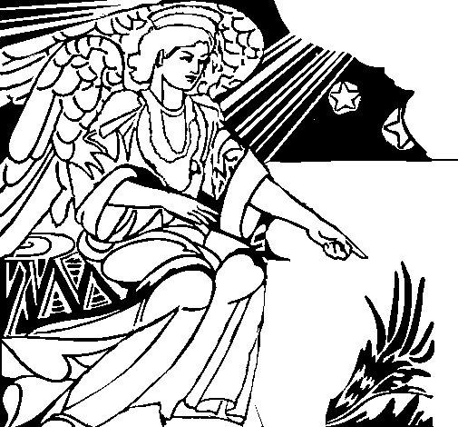 Disegno di angelo del presepio da colorare - Angelo da colorare fogli da colorare ...
