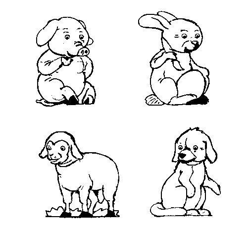 Disegno di animali della fattoria da colorare for Disegno della fattoria americana