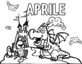 Disegno di Aprile da colorare