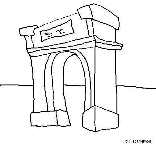 Disegno di Arco di trionfo  da Colorare