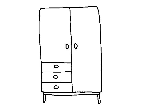 Disegno di Armadio da Colorare - Acolore.com