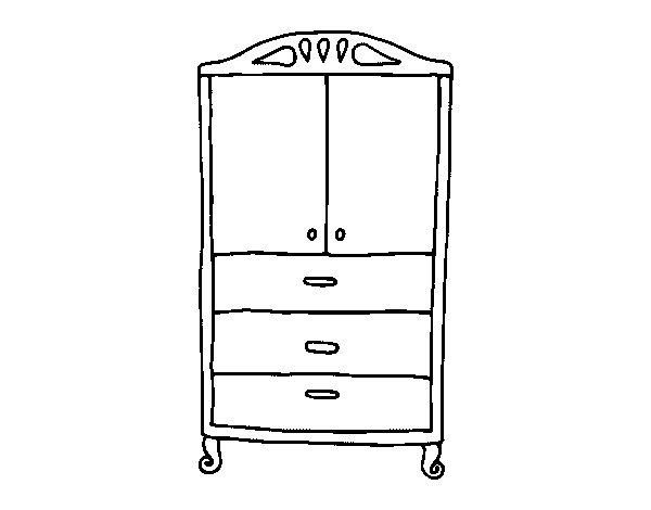 Disegno di Armadio per i vestiti da Colorare - Acolore.com