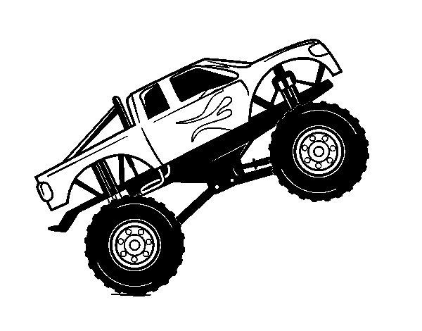 Disegno di auto bigfoot da colorare for Disegni staccati di 2 box auto