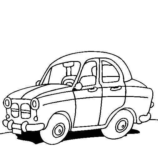 Disegno di auto da citt da colorare for Disegno di cars 2 da colorare