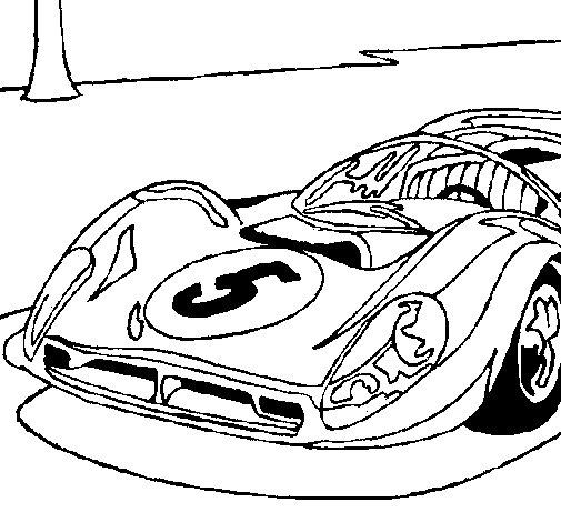 Disegno Di Auto Numero 5 Da Colorare