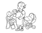 Disegno di Babysitter da colorare