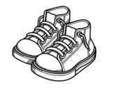 Disegno di Bambino scarpe da colorare