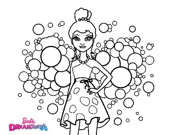 Barbie Da Colorare E Stampare: Disegno Di Barbie Principessa Rosa Da Colorare
