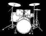Dibujo de Batteria di percussioni