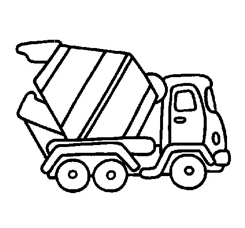 Cement mixer coloring pages