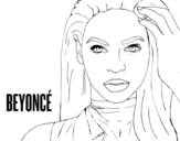 Disegno di Beyoncé I am Sasha Fierce da colorare