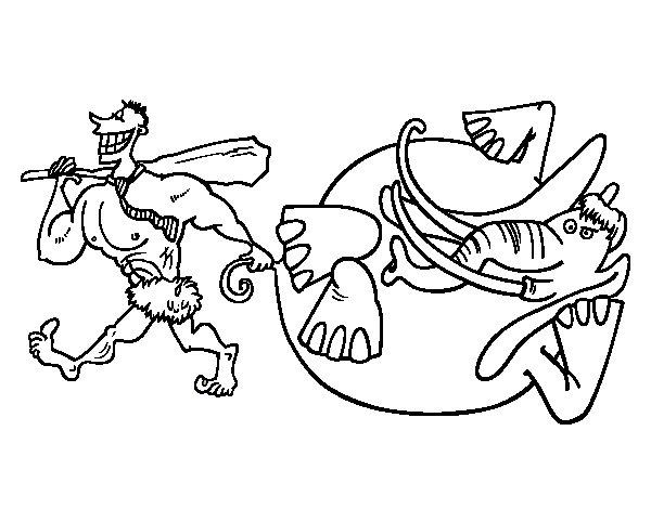 Disegno di caccia da elefante da colorare - Adulto da colorare elefante pagine da colorare ...