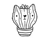 Disegno di Cactus gatto da colorare