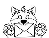 Disegno di Cane con la lettera da colorare