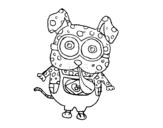 Disegno di Cane Minion da colorare