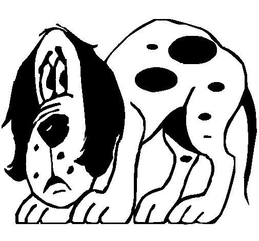Disegno Di Cane Spaventato Da Colorare