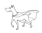 Disegno di cane supereroe da colorare