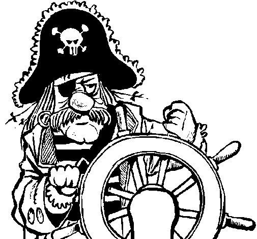 Disegno di capitano dei pirati da colorare - Pirata immagini da colorare i pirati ...