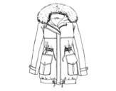 Disegno di Cappotto di inverno da colorare