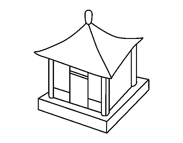 Disegno di casa cinese da colorare for Casa disegno
