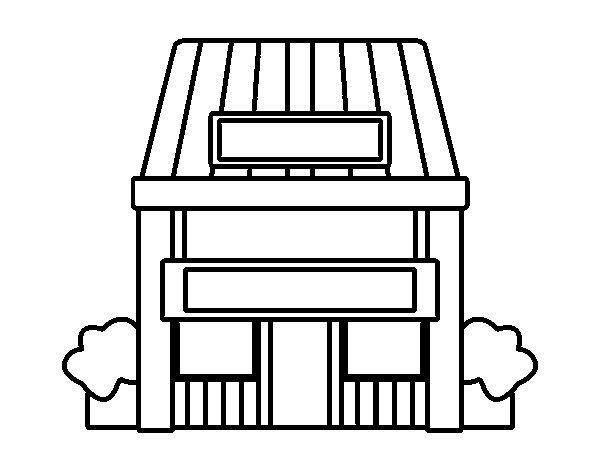 disegno Casa Giardino : Disegno di Casa con giardino da Colorare - Acolore.com