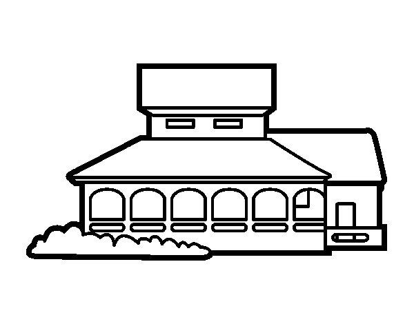 Disegno di casa scuola da colorare for Disegni di casa lastra