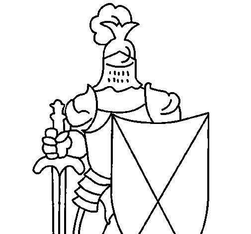 Disegno di cavaliere da colorare - Cavaliere libro da colorare ...