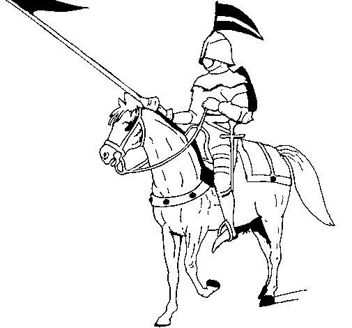 Disegno di cavallerizzo a cavallo da colorare - Cavaliere libro da colorare ...