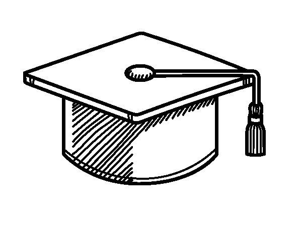 Disegno di Chapéu de formatura da Colorare