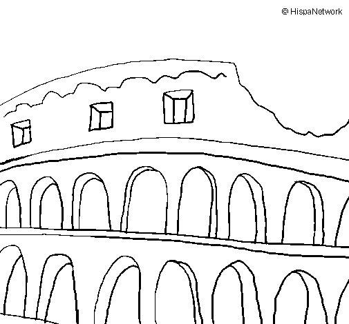 Disegno di colosseo da colorare for Colosseo da colorare