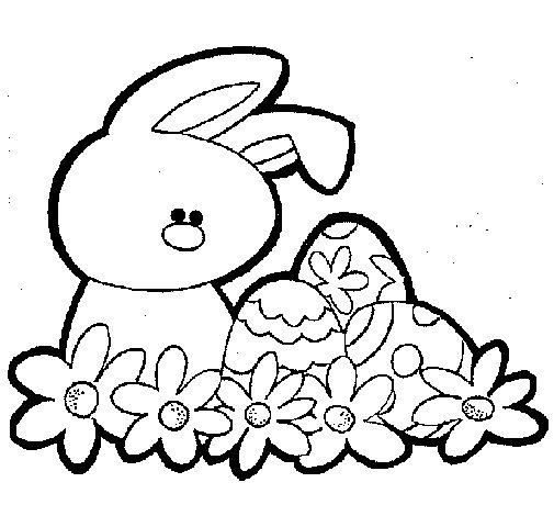 Disegno di coniglietto di pasqua da colorare - Coniglietto da colorare pagine stampabili ...