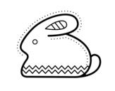 Dibujo de Coniglio di Pasqua laterale