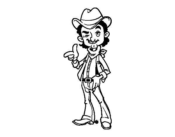 Disegno di cowboy da colorare - Cowboy foglio da colorare ...