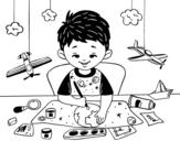 Disegno di Creatività dei bambini da colorare