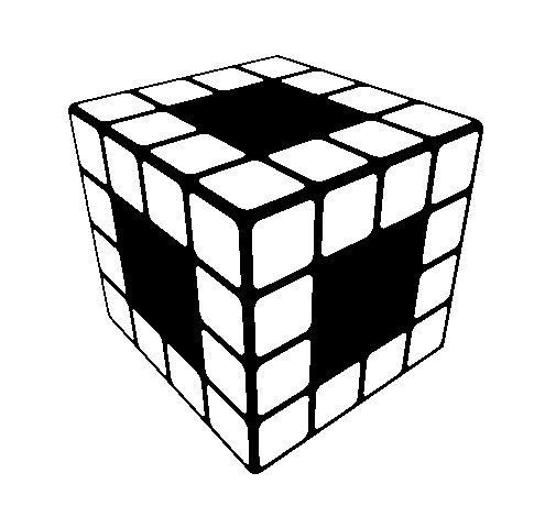 Disegno di Cubo di Rubik da Colorare