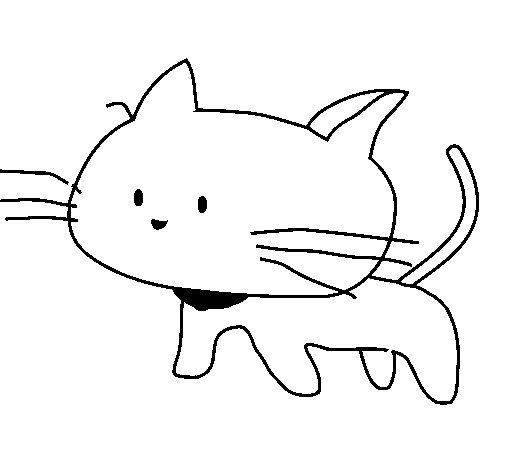 Disegno di cucciolo di gatto da colorare - Cucciolo da colorare stampabili ...