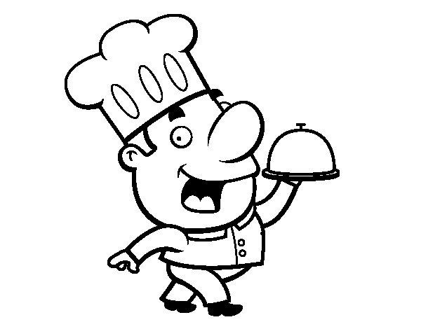Disegno di cucinare divertente da colorare for Cucinare da chef