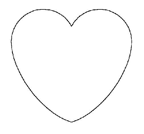 Disegno di cuore da colorare for Cuori grandi da stampare
