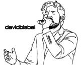 Disegno di David Bisbal cantando da colorare