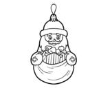 Disegno di Decorazione di Natale Babbo Natale da colorare
