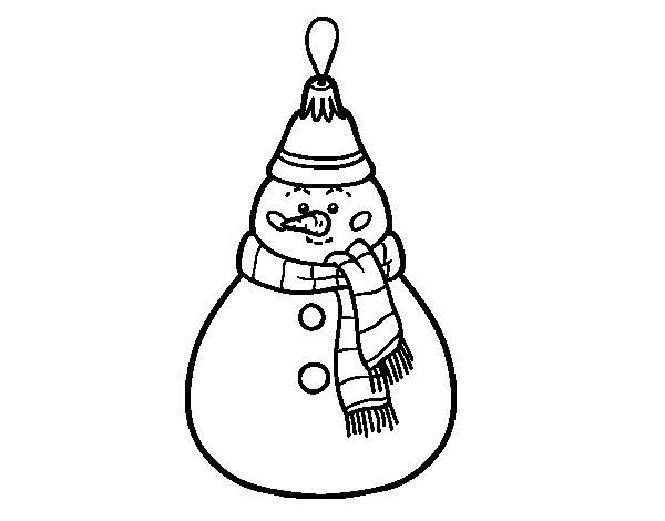Disegno di decorazione di natale pupazzo di neve da - Pupazzo di neve pagine da colorare ...