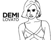 Disegno di Demi Lovato da colorare