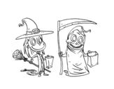 Dibujo de Dolcetto o scherzetto di Halloween