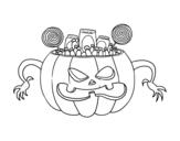 Disegno di Dolci di Halloween da colorare