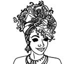 Disegno di Donna africana da colorare