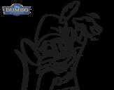 Disegno di Dumbo - Topo timoteo da colorare