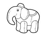 Disegno di Elefante di straccio da colorare