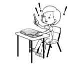 Disegno di Esame di scuola da colorare